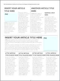 Create Newspaper Article Template Create Newspaper Article Template Free A Fake 3 Column Online