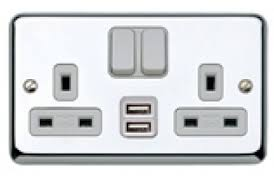 mk albany plus 13a 2 gang twin usb dp switched socket outlet image for mk albany plus 13a 2 gang twin usb dp switched socket outlet polished chrome
