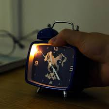 Cartoon Mute Clock Bedside Night Light Alarm Clock Bedroom Childrenu0027s Desk  Clock Home Student Alarm Clock In Alarm Clocks From Home U0026 Garden On ...