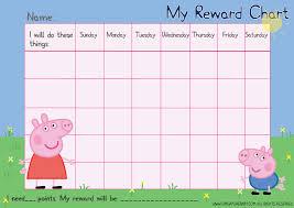 Peppa Pig Potty Training Reward Chart Printable Free Peppa Pig Reward Chart Potty Training Reward Chart