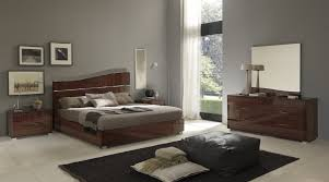 Modern Italy Lacquer wood Queen Size Bedroom Set With Bed Nightstands  Dresser Mirror VIG-VGSMASOGNO
