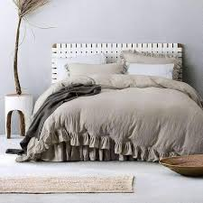 belgian linen duvet cover set w ruffled flouncing avail in 12 for king decorations 16