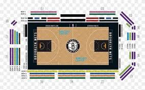 Courtside Seating Map Brooklyn Nets Courtside Map Hd Png