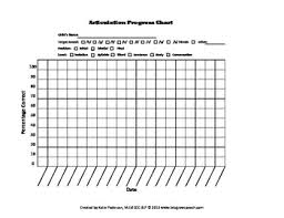 Speech Therapy Progress Chart Articulation Progress Chart Freebie