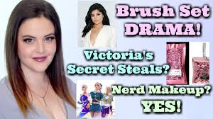 what s up in makeup news nerd makeup ftw victoria s secret rips off pat kylie s brush set drama