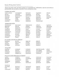 words not to use on a resumes cool resume verb words contemporary resume ideas namanasa com