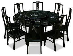 60 rosewood pearl inlaid design round dining table with 8 chairs