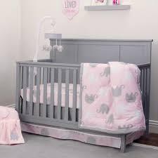 image of elephant baby bedding pink