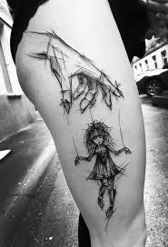 Sketch Style Tattoo By Inez Janiak Puppet Master Ink Tattoos