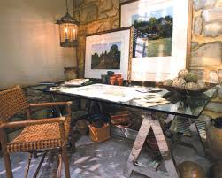 rustic home office furniture. office furniture : modern rustic expansive dark hardwood throws desk lamps red spiral cone home