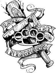 Motiv Tetování Gang 1389