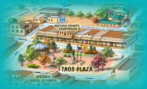 map of taos plaza