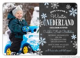 Snowflake Birthday Invitations Blue Falling Snowflakes Winter Onederland Birthday Party Invitation