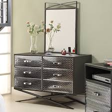 Mirrors For Bedroom Dressers Cool 6 Drawer Dresser With Mirror On Carter 6 Drawer Dresser And