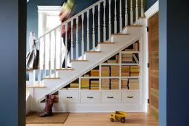 Design the under stairs storage effectively to maximize the looks