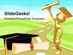 Education Background For Powerpoint Graduate Holding Diploma Education Powerpoint Templates And