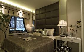 Bedroom  Design Ideas Interior Beige Drape Master Bedroom Window - Master bedroom window treatments