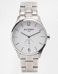 <b>Часы</b> с ремешком из нержавеющей ткани <b>Ben Sherman WB003WM</b>