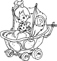Small Picture The Flintstones Baby Girl Pebbles Flintstone Coloring Pages