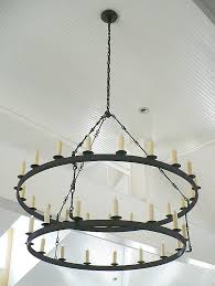 iron ring chandelier small