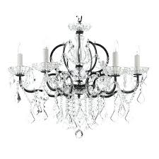 the gallery crystal chandelier gallery rococo c 6 light black wrought iron and crystal chandelier images