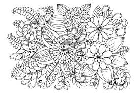 Free Printable Coloring Pages For Adults Advanced Flowers