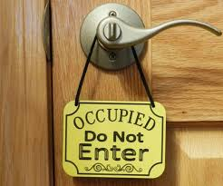 occupied bathroom sign. OCCUPIED Do Not ENTER Sign Door Knob By EngravedBlessings Occupied Bathroom
