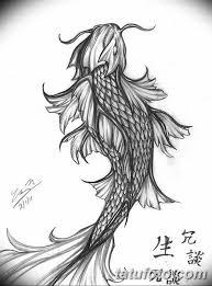черно белый эскиз тату рисункок рыба 11032019 069 Tattoo Sketch
