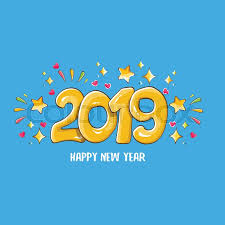 2019 Happy New Year poster or card ... | Stock vector | Colourbox