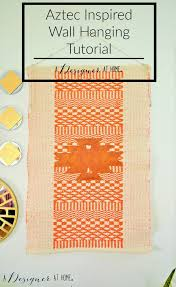 aztec inspired wal hanging tutorial it s easier than you d think