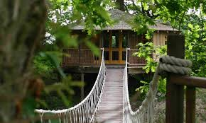 Cliffside Lodge Tree House  Blue ForestTreehouse Accommodation Ireland
