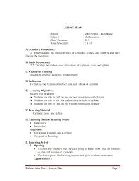 Lesson plan 9th grade junior high school