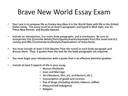 brave new world essay slides