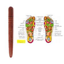 Fascia Blaster Chart Wooden Foot Spa Physiotherapy Reflexology Thai Foot Massage Health Chart Free Massage Stick Tool Free Ship Hot