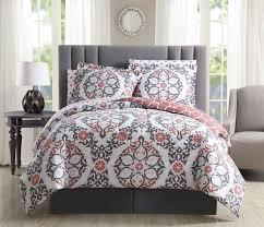 8 piece shakti c white reversible comforter set cal king