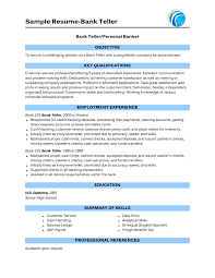 Resume Samples For Experienced In Banking Inspirationa Sample Bank