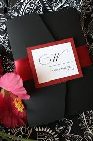 best 25 red wedding invitations ideas on pinterest red burgundy Black Elegant Wedding Invitations luscious ruby red and black noir pocketfold wedding invitation black and white elegant wedding invitations