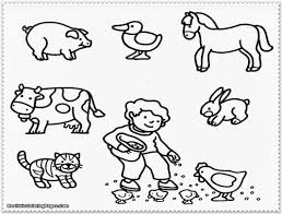 Small Picture Farm Animal Coloring Pages For Preschoolers esonme