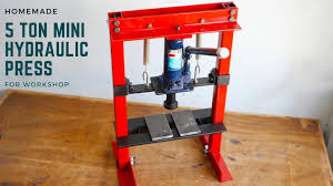 homemade mini hydraulic press machine