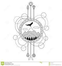 символ татуировки гор иллюстрация вектора иллюстрации насчитывающей