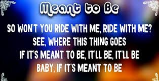 Bebe Rexha - Meant to Be (feat. Florida Georgia Line) Lyrics 2017 - video  Dailymotion