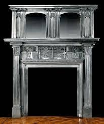 slight mackintosh feel antique cast iron art nouveau fireplace mantel