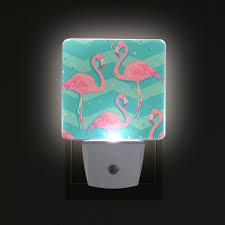 Flamingo Light Fixture Alirea Flamingo Birds Pattern Plug In Led Night Light Auto Sensor Smart Dusk To Dawn Decorative Night For Bedroom Bathroom Kitchen Hallway