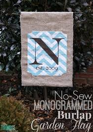 diy no sew garden flag the turquoise home