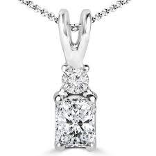 details about 37 ct vs2 k cushion diamond multi stone pendant necklace 14k white gold