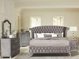 bedroom sets. Brilliant Bedroom Deanna Grey Velvet Platform Bedroom Set Chest Sold Separately 20510 In Sets