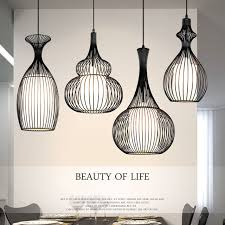 industrial cage lighting. Vintage Industrial Pendant Lights Modern Led Retro Cage Light E27 Wrought Iron Lamp Dining Room Lighting