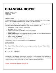 Resume Companies Magnificent Chandra Royce Resume To Steel Companies