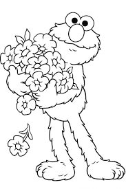 Small Picture Coloring Pages Baby Elmo Coloring Page Free Sesame Street