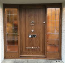 cottage door sidelights oak fl23